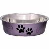 Bella bowl grape paw prints