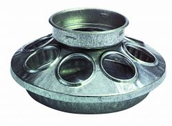 Galvanized 1-Quart Chick Feeder