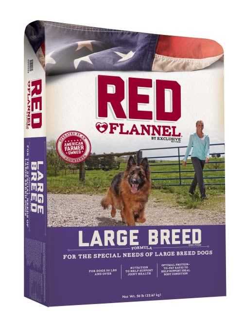 Red Flannel Large Breed Adult 50 lb
