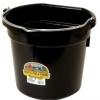 Flat Back Bucket, 20-Quart Black