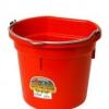 Flat Back Bucket, 20-Quart Red