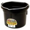 Flat Back Bucket, 8-quart Black