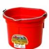 Flat Back Bucket, 8-quart Red