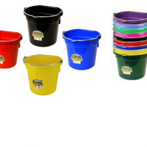 Flat Back Plastic Buckets
