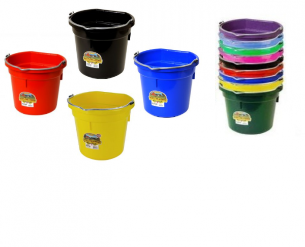 Flat Back Plastic Buckets