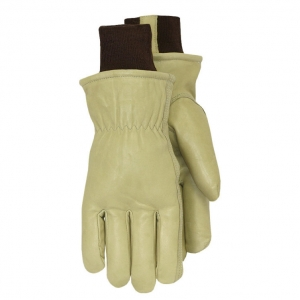Lined Smooth Grain Leather Gloves