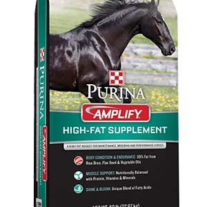 Purina Amplify High-Fat Horse Supplement 50 lb