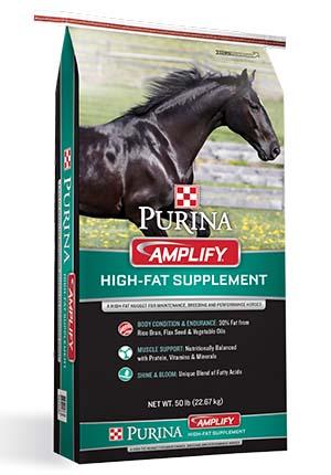 Purina Amplify High-Fat Horse Supplement 50 lb