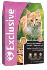Exclusive Weight Management and Hairball Care Adult Cat Food 5 lb