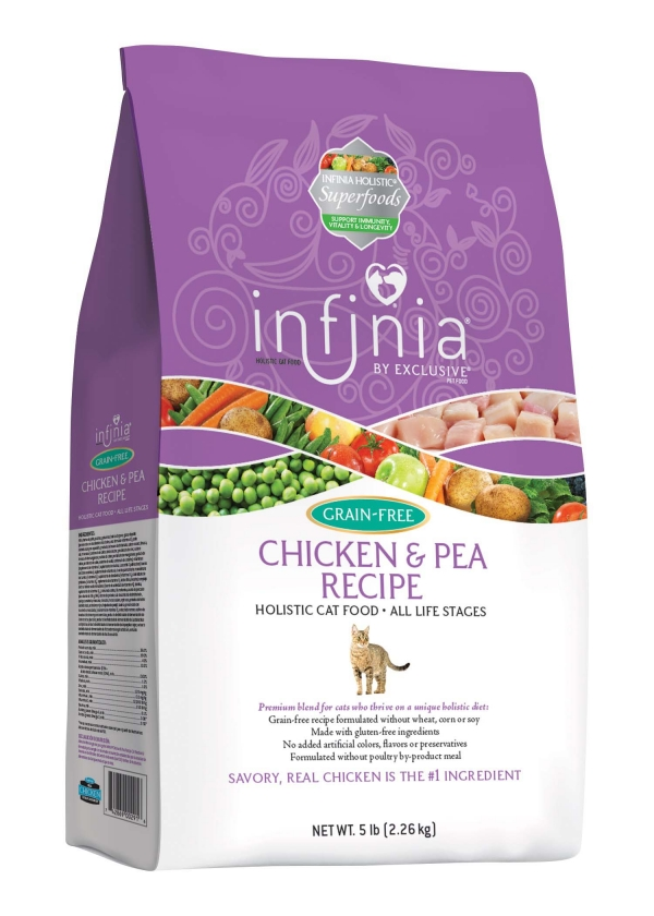 Infinia Chicken and Pea All Life Stages Holistic Cat Food 5 lb