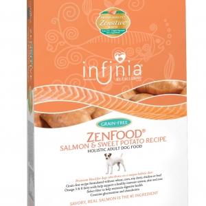 Infinia ZenFood Salmon and Sweet Potato Holistic Adult Dog Food 5 lb