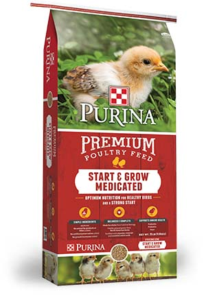 Purina Start and Grow Medicated Crumbles 25 lb