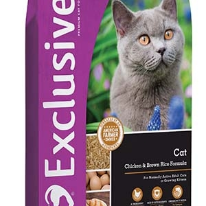Exclusive Chicken and Brown Rice Cat Food 5 lb