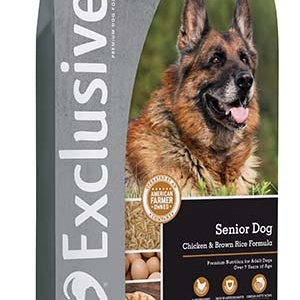 Exclusive Chicken and Brown Rice Senior Dog Food 30 lb