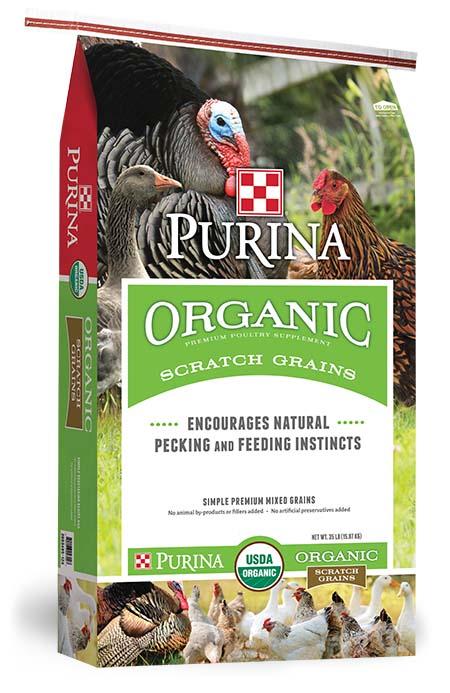 Purina Organic Scratch Grains 35 lb
