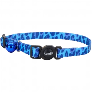 Cat Collar Blue Leopard