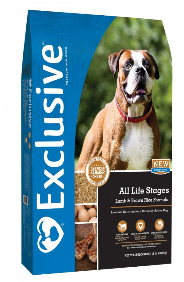 Exclusive Lamb and Brown Rice All Life Stages Dog Food 5 lb