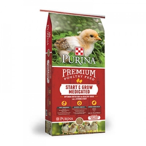 Purina Start and Grow Medicated Crumbles 50 lb