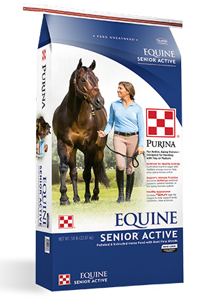 Purina Equine Senior Active Horse Feed 50 lb