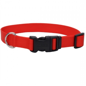 Coastal adjustable dog collar, red