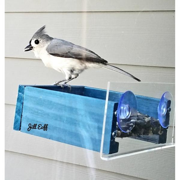Petite Blue Window Feeder BE151