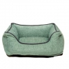 dog bed chenille lounger greenWblue 480x480